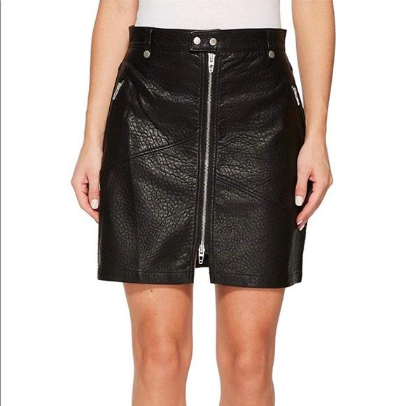 8fd1746782 Blank NYC Skirts | Nwt Black Vegan Leather Zipper Skirt 28 | Poshmark
